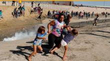 Do we have to see children being tear-gassed on the US-Mexico border before we believe that a slide into authoritarianism is under way?  Do we have to crucify Christ in every generation before we can understand our own capacity for cruelty? Photograph: Kim Kyung-Hoon/Reuters