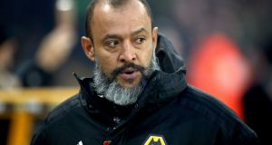 Nuno Espirito Santo's Wolves will play Liverpool in the FA Cup third round. Photograph: Nick Potts/PA