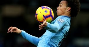 Manchester City's Leroy Sane: maintained his recent high standards with a starring role in Saturday's 3-1 defeat of Bournemouth. Photograph: Catherine Ivill/Getty Images