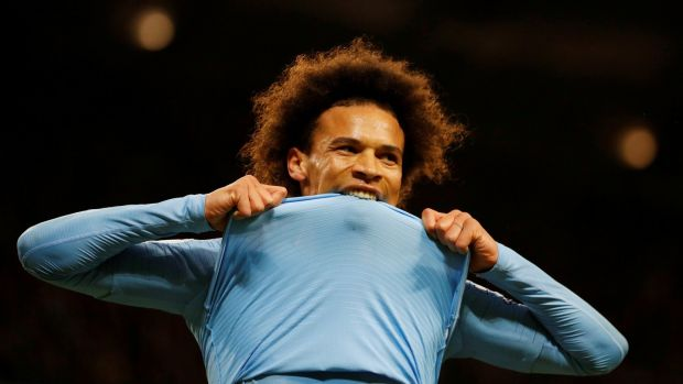 Manchester City's Leroy Sane: the German has roared back to form after the disappointment of missing out on selection for the World Cup. Photograph: Phil Noble