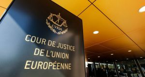 A general view of the entrance of the Court of Justice of European Union in Luxembourg. Photograph: Julien Warnand/EPA