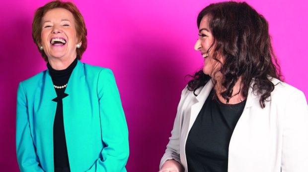 Former president of Ireland Mary Robinson and comedian Maeve Higgins. Photograph: Ruth Medjber
