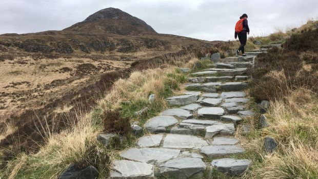 Diamond Hill near Letterfrack, Co Galway: Forum Connemara has plans to work on sustainable farming and walking tourism models in the Twelve Bens and Maumturks. Photograph: Bryan O'Brien