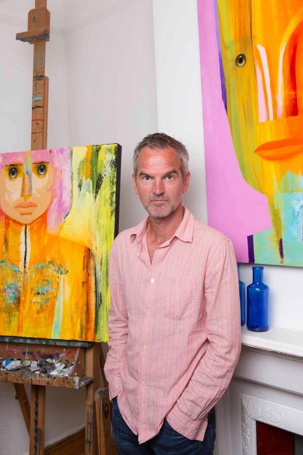 Dublin artist Tim Mudie who left a near 30-year advertising career behind to focus on painting full-time through volunteering