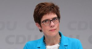 Annegret Kramp-Karrenbauer, candidate to lead Germany's ruling party. Photograph: Krisztian Bocsi/Bloomberg