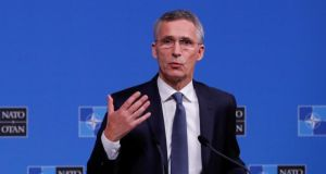 Nato secretary-general Jens Stoltenberg called on Russia to immediately release the Ukrainian sailors and ships it had seized. Photograph: Yves Herman/Reuters