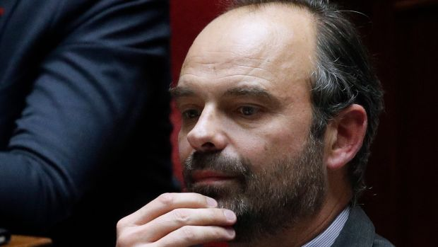 French prime minister Edouard Philippe attends the weekly session of questions to the government, at the French National Assembly in Paris on December 4thPhotograph: Yoan Valat/EPA