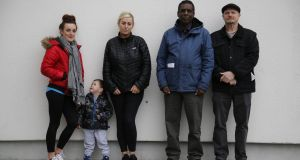 Stephanie Yeates and her son and Carter; Catherine Smith; Ismail Olujoog; and Cllr Brian Leech. Photograph: Nick Bradshaw