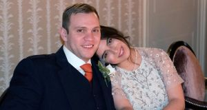 Durham University PhD student Matthew Hedges and his wife Daniela Tejada. Photograph: Daniela Tejada/EPA