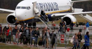 Ryanair argues that many staff are happy with contractor status, which they say gives them higher pay. Photograph: Reuters