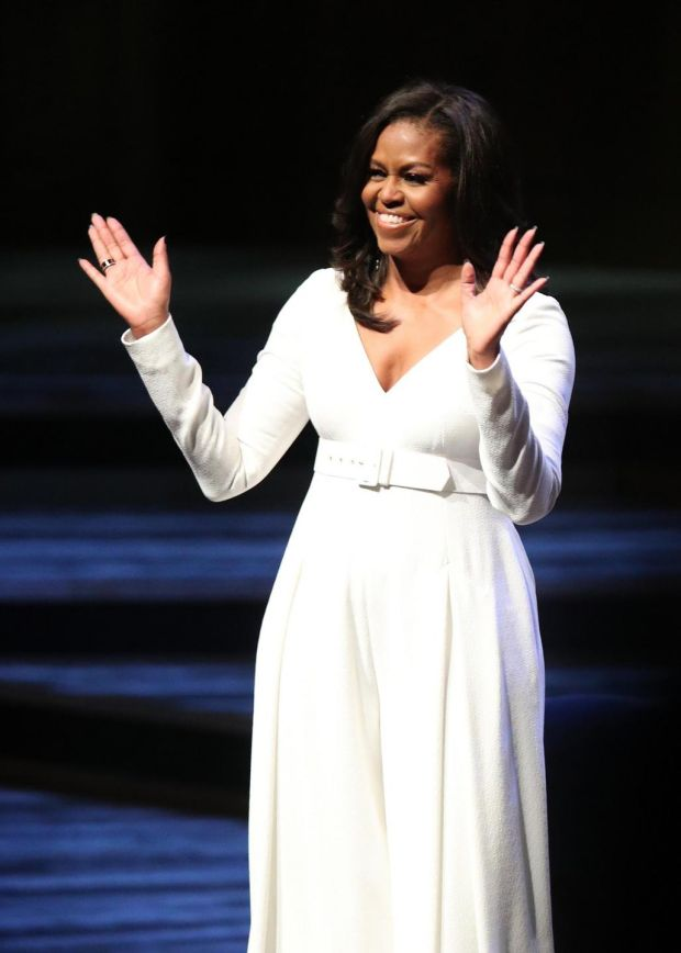 Michelle Obama at the Royal Festival Hall in London. Photograph: Yui Mok/PA Wire