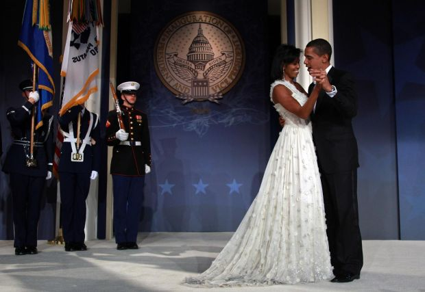 Michelle Obama in Jason Wu with Barack Obama, in 2009, at his inauguration ball. Photograph: Mark Wilson/Getty Images