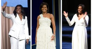 Style icon: the former first lady of the US Michelle Obama. Photographs: Getty