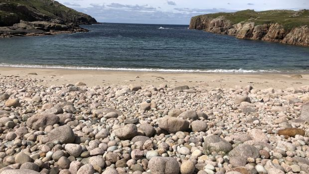Tráigh Mhachaire na nGall: the sandy beach on the island is well worth visiting