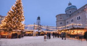 The famous 'Weihnachtsmarkt' (Christmas Market) in Salzburg. Photograph: Getty Images