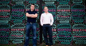 Teamwork founders Daniel Mackey and Peter Coppinger. They're targeting turnover of $50 million by the end of 2021. Photograph: Tom Honan