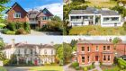 Top Irish residential sales in 2018: Clonmore, on Shrewsbury Road in Dublin 4 (top left); the Beach Haus, in Co Meath (top right); Dowdstown House, in Co Kildare (bottom left); and 41 Cowper Road in Rathmines, Dublin 6