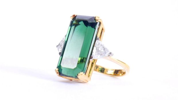 Lot 268, tourmaline and diamond cocktail ring