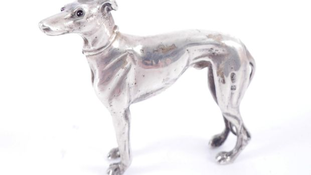 Lot 256, Russian silver greyhound