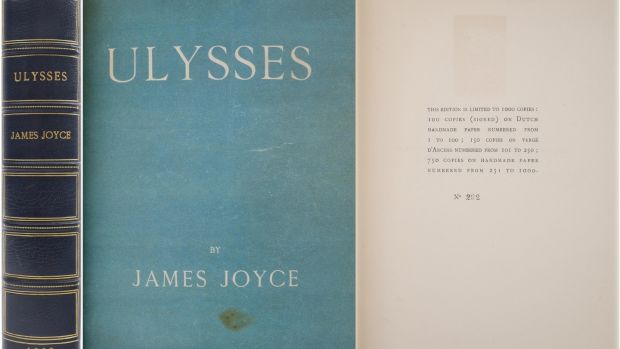 Lot 229, first edition of Ulysses