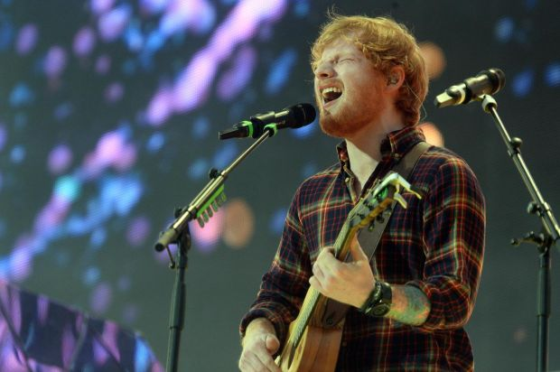 Ed Sheeran's ÷ was among the top five most-streamed albums in Ireland. Photograph: Cyril Byrne