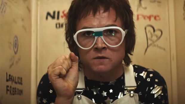 Croc of ages: Taron Egerton as Elton John in 'Rocketman'