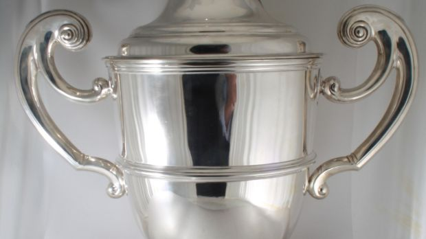 1899 large silver trophy, – with base (not pictured), also works as a champagne bucket (€20,000), Weldon's, Clarendon Street.