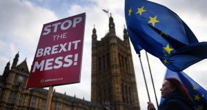 The Brexit debate rumbles on. The various parties cling to their beliefs – even if those beliefs have ceased to make any sense.  Photograph: Andy Rain/EPA