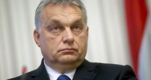 "Hungarian prime minister Viktor Orban: ""In effect Hungary set the direction without serious consequences.""  Photograph: Daniel Kasap/EPA"