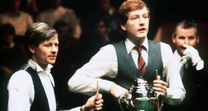 Alex Higgins came from seven frames behind in the first session to win 16-15 in December 1983. Photograph: Mirrorpix/Getty Images