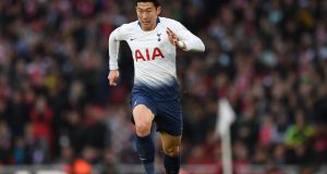 Heung-Min Son: his style, based on searing pace, positional awareness and two-footed technical ability, is simply joyful to watch. Photograph: Shaun Botterill/Getty