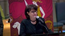 Eavan Boland recites poem at UN to celebrate 100 years of Irish women's suffrage