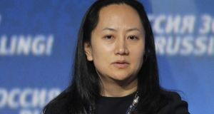 Meng Wanzhou, chief financial officer of Huawei. Photograph: Maxim Shipenkov/EPA