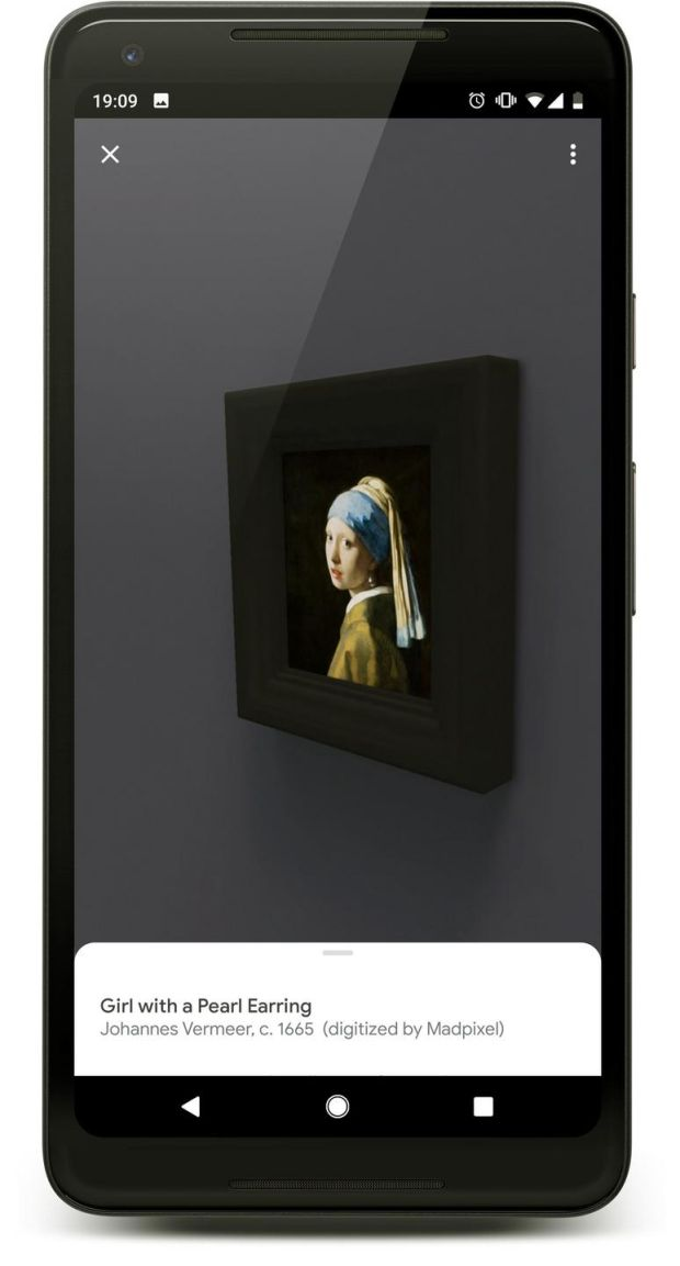 Girl With a Pearl Earring in the Vermeer gallery app. Photograph: Mauritshuis /Google Arts & Culture/New York Times