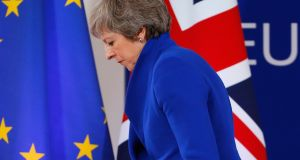 Theresa May at  a press conference at the end of European Council in Brussels, Belgium, on November 25th. File photograph: Julien Warnand/EPA