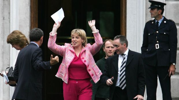 Mary Coughlan celebrating her appointment as Minister for Agriculture in 2004. Photograph: Frank Miller