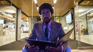 Lakeith Stanfield in Boots Riley's Sorry to Bother You. Photograph: Peter Prato / Annapurna Pictures