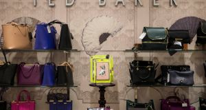 Ted Baker said it continues to anticipate mid- to high-single-digit wholesale sales growth in constant-currency terms for the full year. Photograph: Reuters