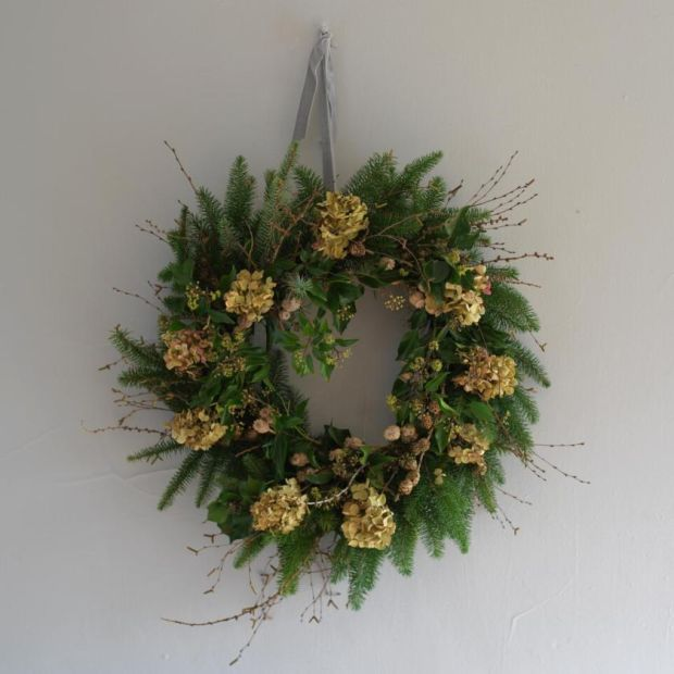 Christmas wreath: a homemade one can capture the magic and symbolism of an Irish Christmas in a way no synthetic, mass-produced wreath can. Photograph: Richard Johnston