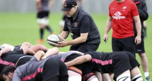 Injuries to the Ulster tight five have caused selection headaches for head coach Dan McFarland. Photograph: Inpho