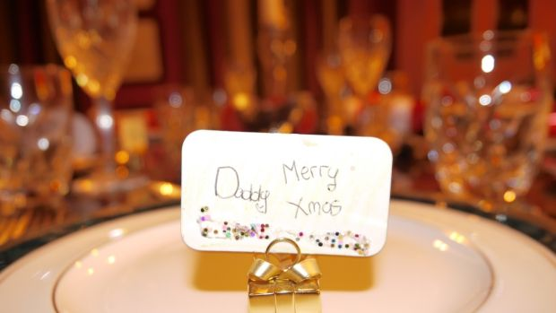 Kevin Dundon's Christmas table – place cards