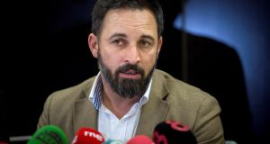 "The far-right Vox party leader Santiago Abascal: said it would ""never be an obstacle"" to a new government. Photograph: Luca Piergiovanni/EPA"