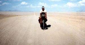John Devoy:  through sandstorms and intestinal worms, debilitating illnesses and precarious river crossings, he rides his bicycle across the Bayuda Desert.