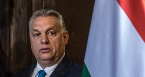 Hungarian prime minister Viktor Orban: government's voice is dominant in print and broadcast media, as it promotes anti-immigration and Eurosceptic messages and marginalises criticism of corruption. Photograph: Martin Divisek