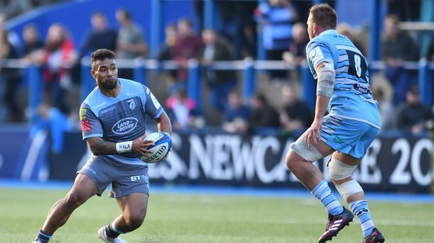 Willis Halaholo of Cardiff Blues goes on a run during their recent loss to Glasgow. Photo: Athena Pictures/Getty Images