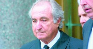 Bernie Madoff was involved in a €65 billion Ponzi scheme in the US. Photograph: Getty