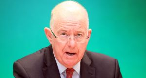 "Minister for Justice and Equality Charlie Flanagan:  called for ""continued efforts to tackle the people-smugglers who exploit vulnerable migrants"". Photograph: Garrett White/Collins"