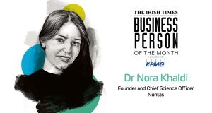 Dr Nora Khaldi founded Nuritas in 2014 and this funding makes it the first Irish biotech company to be backed by the EIB.