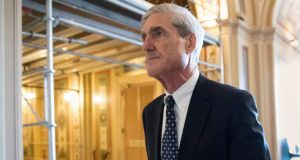 Robert Mueller: his inquiry into Donald Trump's election campaign team links with Russia is set to lodge documents in courts in Washington and New York. Photograph: J Scott Applewhite/AP
