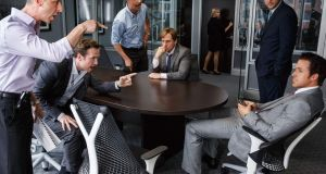 Steve Eisman was supposedly the  inspiration for the character played by Steve Carell (centre) in the movie version of Michael Lewis's book The Big Short